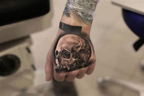 cool hand tattoo designs skull best design ideas