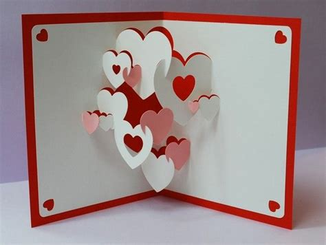 Diy 3d Pop Up Birthday Card Template by 3d Pop Up Cards Hearts 3d Pop Up Greeting Card