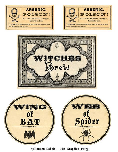 printable halloween tags free printable vintage halloween labels www pixshark com