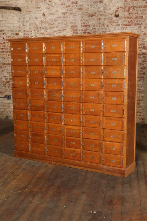 Vintage Storage Cabinets Vintage Industrial Wood Storage Unit Or Multi Drawer Cabinet At 1stdibs