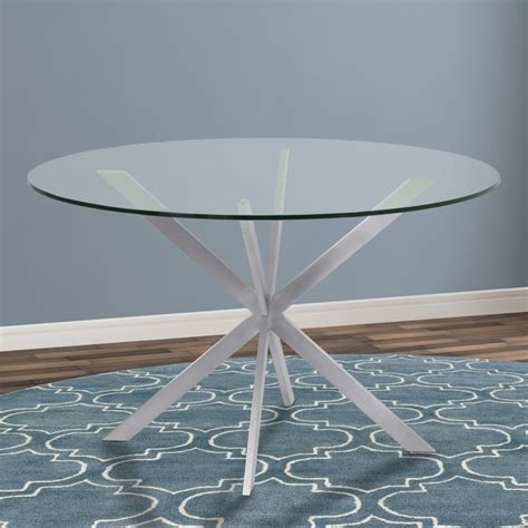 armen living mystere round dining table in brushed