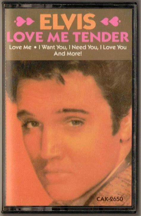elvis s me tender books elvis quot me tender quot cassette collectors weekly