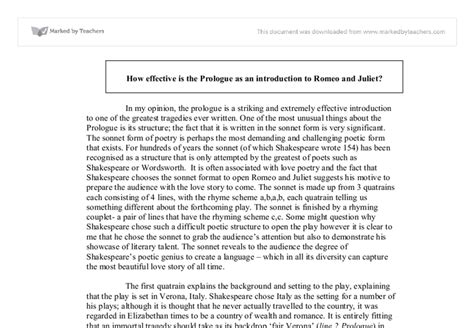 Essay On Romeo And Juliet by Romeo And Juliet Essay Opening Paragraph Study Format Ethics