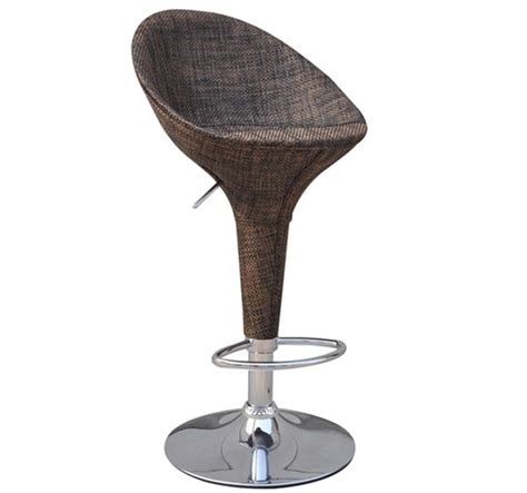 swivel wicker bar stools homcom modern rattan adjustable swivel bar stool 2 pk