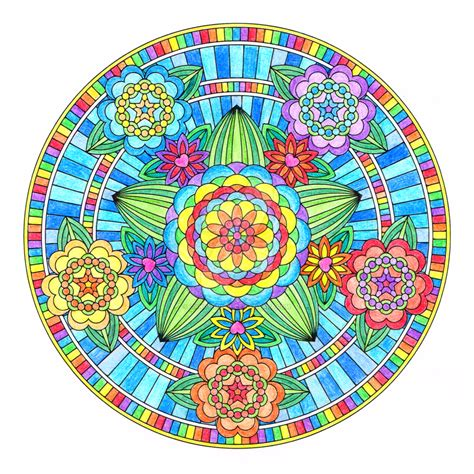colored mandala flowers of mandala colored by hippie on deviantart