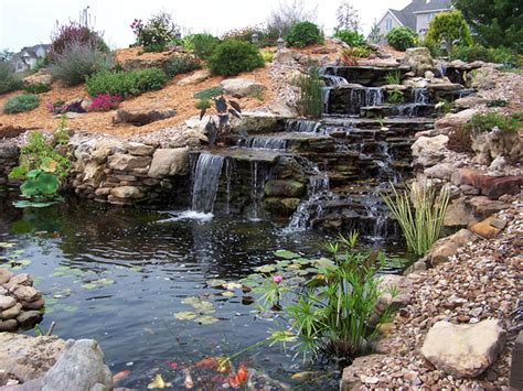 backyard pond pictures with waterfalls hgtv