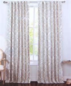 white curtains 96 inches envogue gray blue damask paisley window curtain panels set