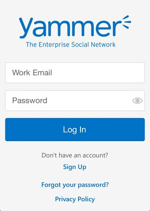 mobile office login set up yammer on your mobile phone office