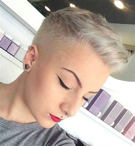 ultrashort pixie haircuts ultra short crop short faded and tapered pinterest
