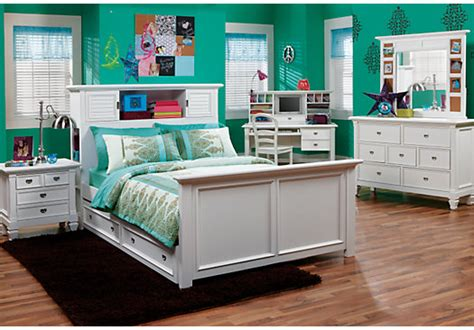 teen full bedroom sets belmar white 6 pc full bookcase bedroom bedroom sets white