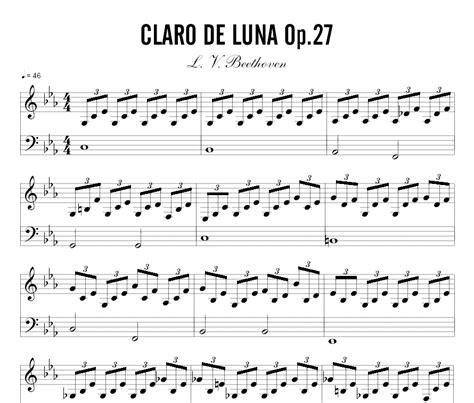 tutorial piano claro de luna partitura claro de luna partituras para piano