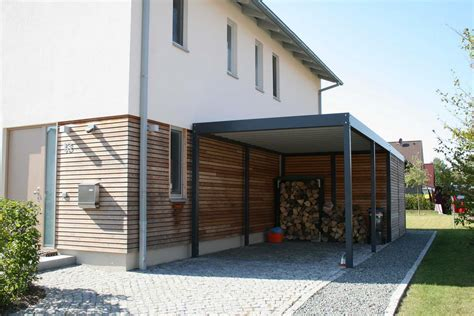 Design Carport Holz by Metallcarport Mit Abstellraum Stahlcarport Mainz