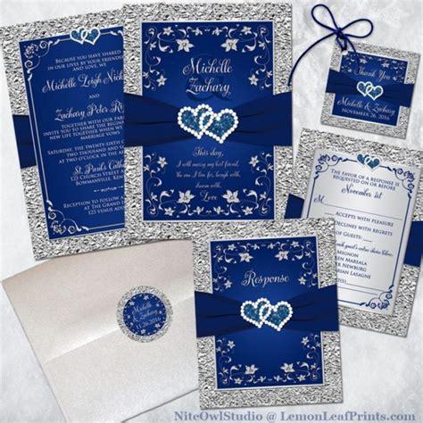 inspiration image  royal blue  silver wedding