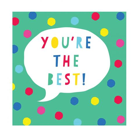 you re you re the best card