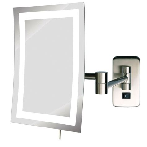 wall mounted bathroom mirror zadro 9 25 in w x 12 25 in h swivel wall mount mirror in