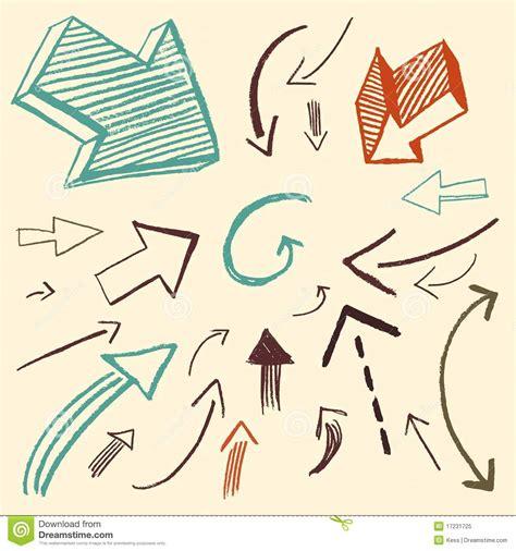imagenes de flechas antiguas doodle fijado flechas foto de archivo libre de regal 237 as