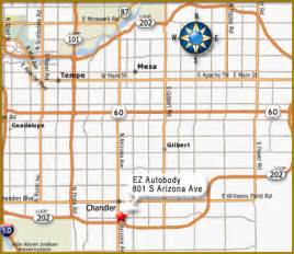 map chandler arizona ez autobody map page