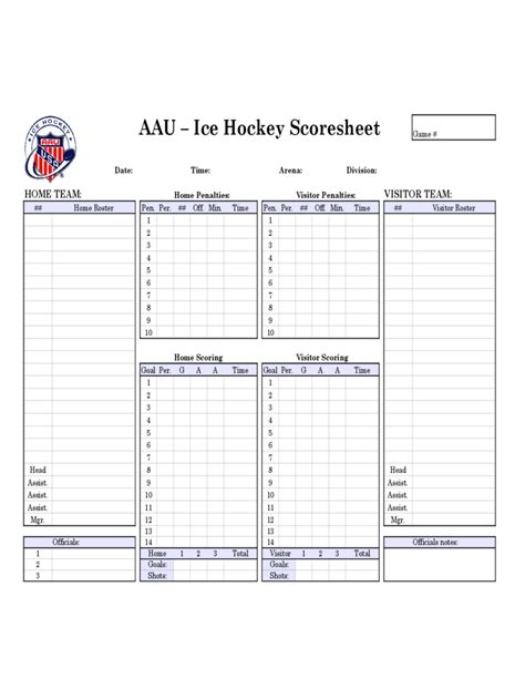 hockey score sheet hockey score sheet 3 free templates in pdf word excel