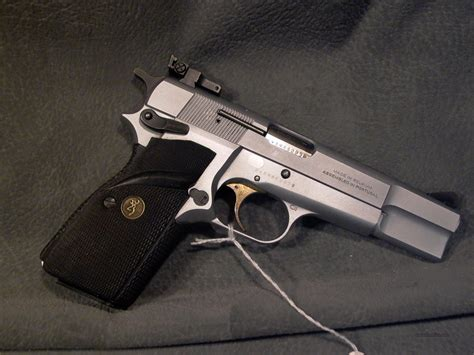 Hi Chrome browning hi power 9mm silver chrome for sale