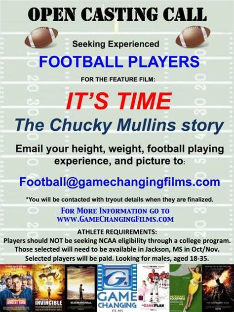 open casting film indonesia 2016 chucky mullins story open casting call for football