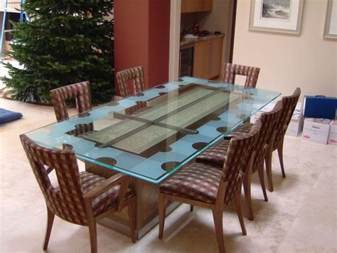 etched glass dining geometric isomer l glass dining tables sans soucie