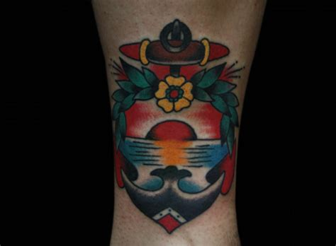 tattoo old school anchor tatuaje old school ancla por inkrat tattoo