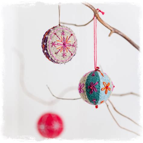 starting 25th october embroidered christmas decorations