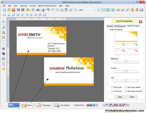program to make business cards business cards maker software designs printable visiting