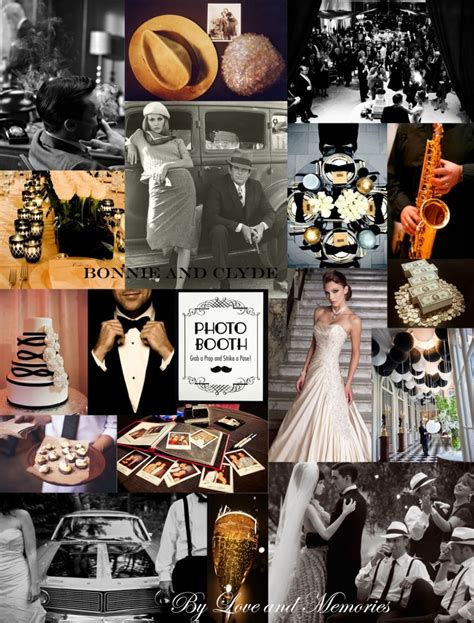 bonnie and clyde theme moodboard by memories inspirational moodboards