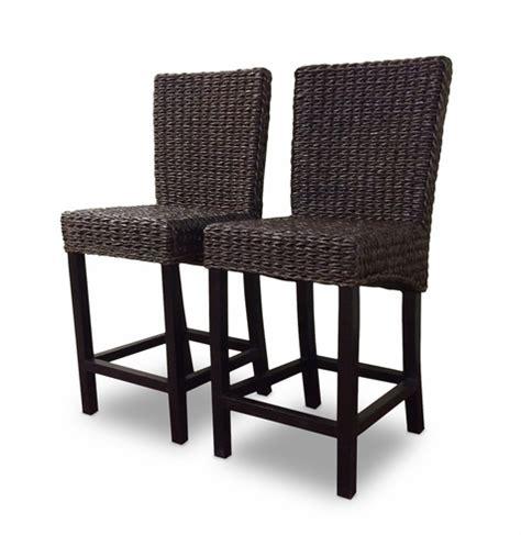 seagrass banana leaf or rattan bar stools with backs seagrass bar stool set of 2 barbados