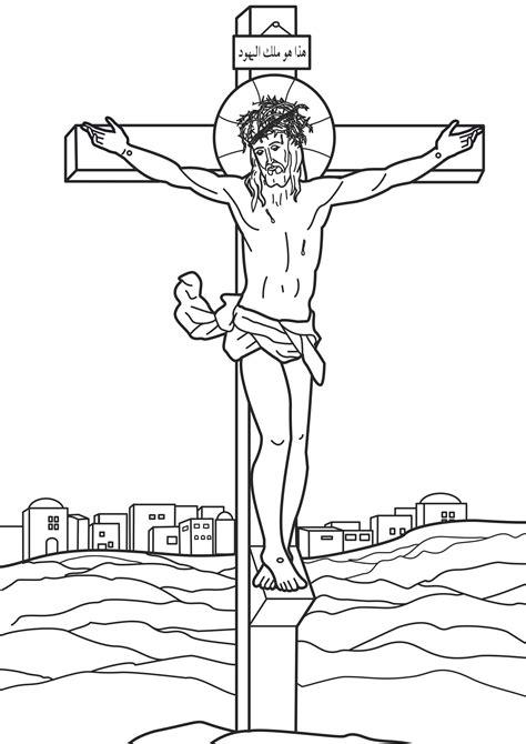 Desenho De Paix&227o E Morte Cristo Para Colorir  Tudodesenhos sketch template
