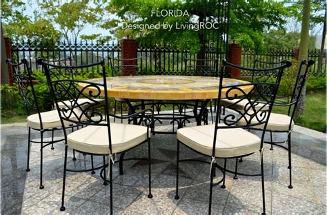 49 quot outdoor patio garden round table mosaic marble stone