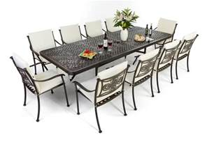 Patio Table For 8 Outside Edge Garden Furniture The Versatile