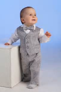 Baby Suit Ring Bearer Baby Boy Baptism Suit Boy Linen