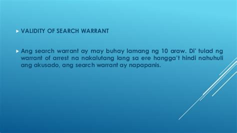 Validity Of Search Warrant Search Warrant