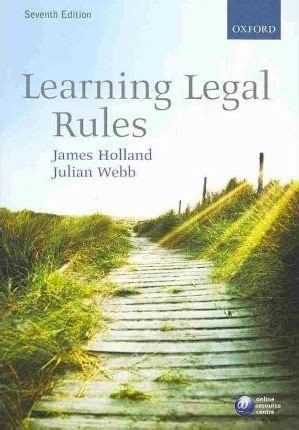 learning legal rules a 0198728433 learning legal rules james a holland 9780199557745