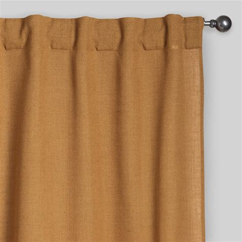 tab top drapes amber gold bella concealed tab top curtains set of 2