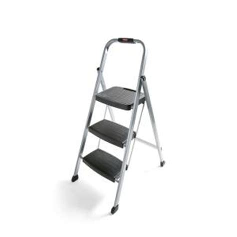 Home Depot Step Stool by Rubbermaid 3 Step Steel Step Stool Ladder Rm 3w The Home Depot