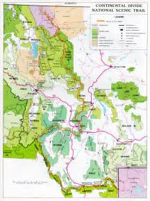 continental divide scenic trail map montana us mappery