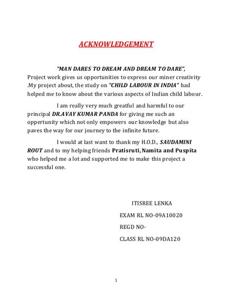 sample for contract agreement child labour in india m com project