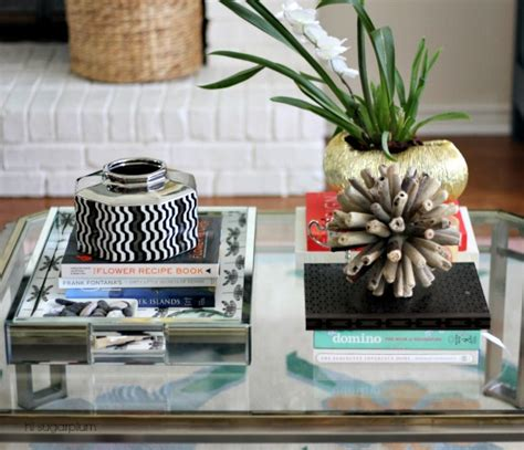 how to style a coffee table how to style coffee tables 1 table 6 ways hi sugarplum