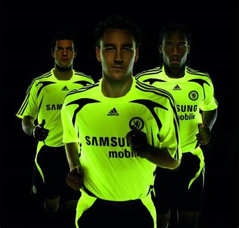 Chelsea Away 2007 electric yellow the new chelsea away kit