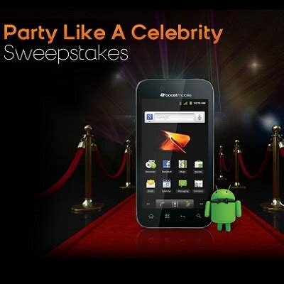 Celebrity Sweepstakes - party like a celebrity sweepstakes sweepstakesbible