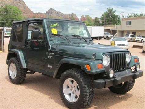 1999 Jeep Wrangler Sport Mpg 1999 Jeep Wrangler Sport For Sale In Sedona Sedona Happy