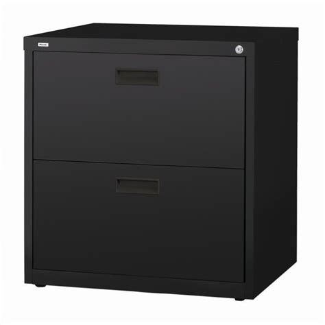 2 Drawer Lateral File Cabinet In Black 14955 Black 2 Drawer Lateral File Cabinet