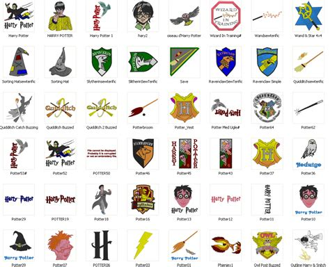 harry potter designs harry potter 113 embroidery designs pack free machine