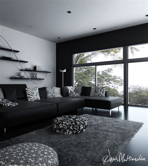 interior design black black and white interior design ideas pictures