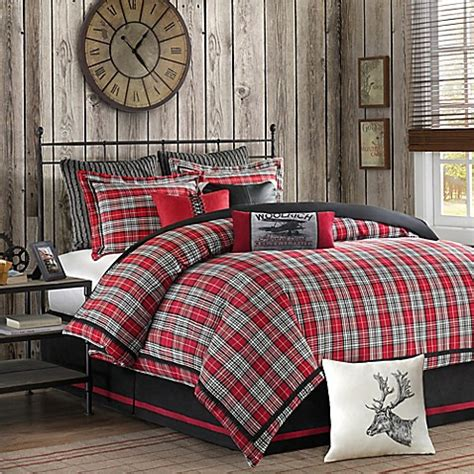 grey and red comforter sets woolrich williamsport comforter set in red grey bed bath
