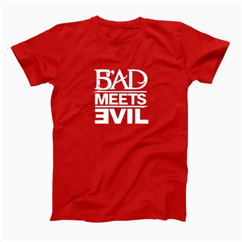 T Shirt Bad Evil bad meets evil t shirt bad meets evil tees