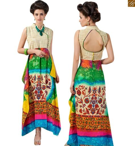 Kurta Back Pattern | long kurtis design of print with stylish patterns on neck